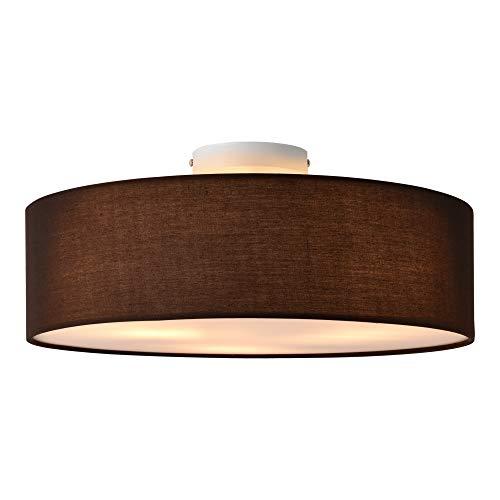 LUX-PRO Lámpara de Techo Omaha Lámpara de plafón Redonda 3xE27 Altura 17cm Diámetro 45 cm Luz Interior Luz para Cocina Dormitorio Salón Baño Organza Marrón