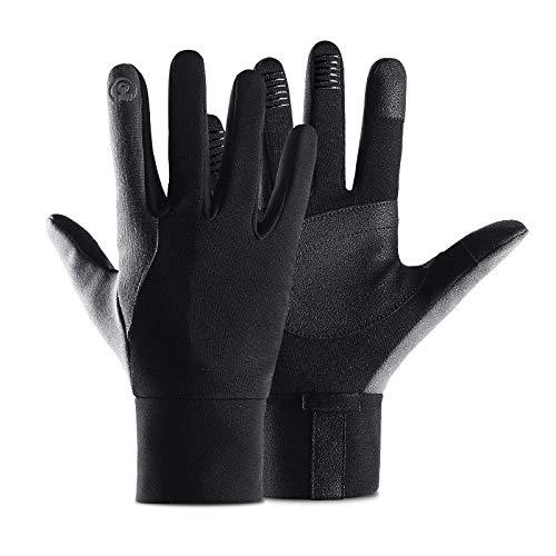 Wangwang454 Fahrradhandschuhe Winter Handschuhe Damen Herren Sport Warm Touchscreen Laufen Arbeit Outdoor Gloves rutschfest Winddicht schwarz Fitness Camping Wandern Reiten Bergsteigen-Graues L