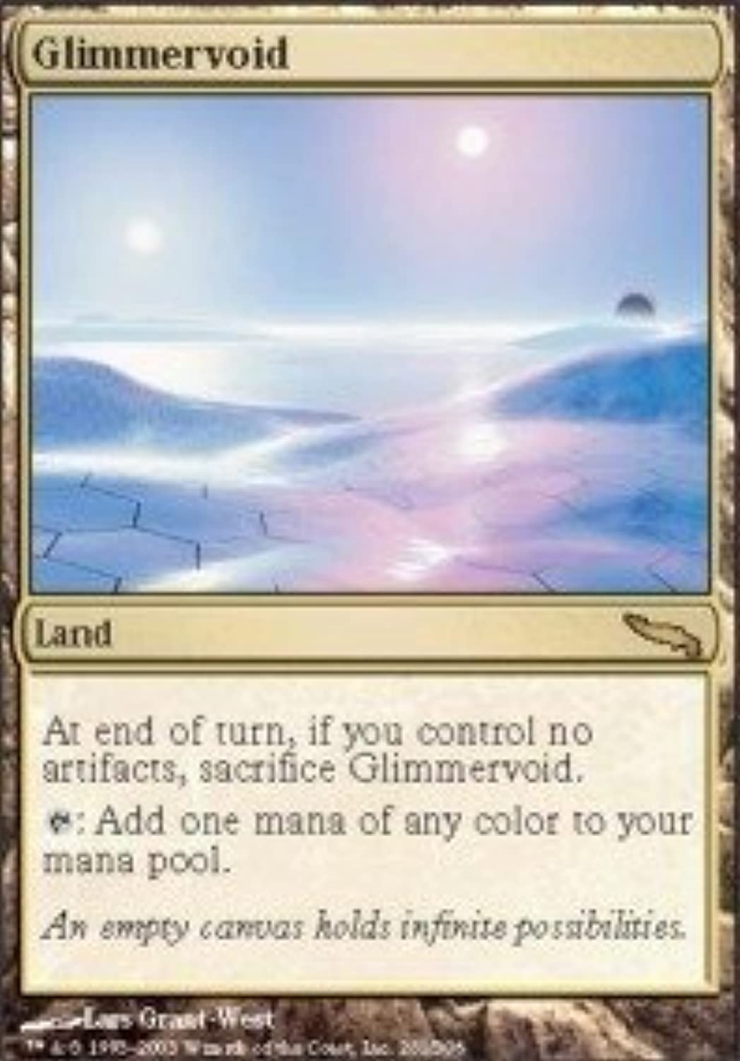 Magic  the Gathering - Glimmervoid - Mirrodin by Wizards of the Coast (inglese uomoual)