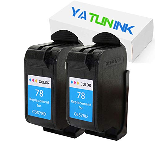YATUNINK Remanufactured Ink Cartridge Replacement for HP 78 Ink Cartridges Compatible for HP Deskjet/Color Copier/Fax/Officejet/Photosmart/PSC Series Printer(Color,2 Pack)