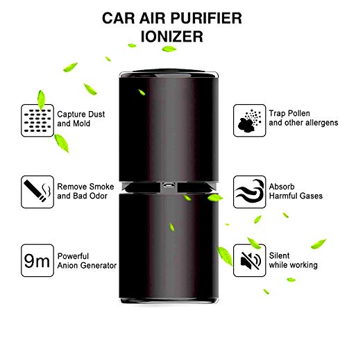 Nebelr Car Air Purifier Ionizer - Removes PM2.5, Smoke, Dust and Bad Odour - Designed in Japan