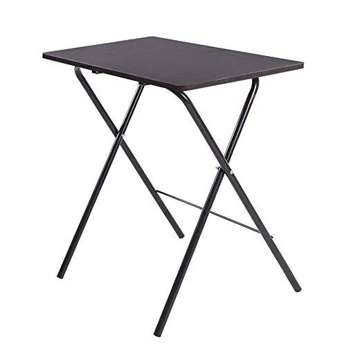 Escritorio para computadora Mesa pequeña Mesa plegable multifunción para cena con tapa de madera y marco de metal Bandejas para computadora portátil de TV para oficina en casa (Color: Beige,...