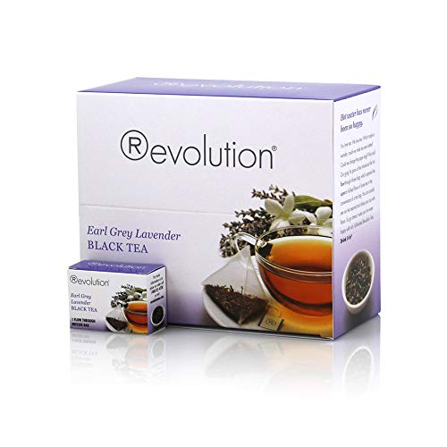 Revolution Tea - Earl Grey Lavender Black Tea | Premium Full Leaf Infuser Teabags - Improve Digestion (30 Bags)