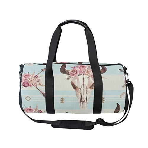 TropicalLife iRoad - Mochila deportiva para gimnasio, bolsa de viaje con diseño de flechas de acuarela y rayas de toro, ligera, con correa para el hombro, bolsa de gimnasio para hombres y mujeres