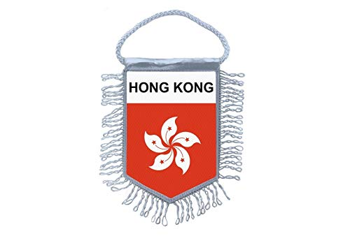 Akachafactory Fanion Mini Drapeau Pays Voiture Decoration Hong Kong