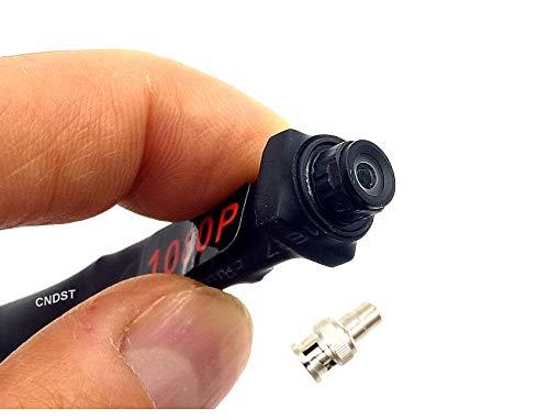 CNDST 1080P 2MP HD 2000TVL 4 en 1 TVI/CVI/AHD/960H CVBS CCTV Mini espía cámara de seguridad, para 1080P 4 en 1 TVI/AHD/CVI/CVBS/960H DVR, ángulo de visión amplio, 130 grados, DC 12V 1A.