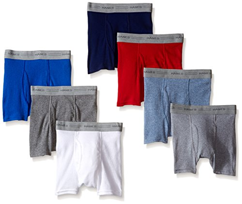 Hanes Toddler Boys Dyed Boxer Briefs, Assorted, 7-Pack, Large
