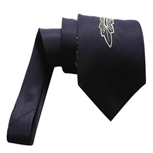 ZSRHH-Neckchiefs Halstücher Dunkelblaue chinesische Drache-Geschäfts-Krawatten-Bräutigam-Hochzeits-Mann-Krawatte