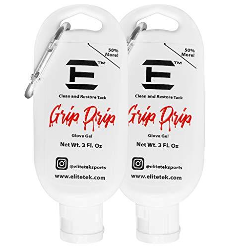 EliteTek Grip Drip - 3 oz. Bottle - Revitalize Youth Football Gloves Football Gear Gel Restores Tack and Grip (1 Pack)