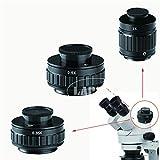 CESULIS CTV 0.35x / 0.5X / 1x Focus Ajustable C Ajuste del Adaptador de Montaje C M38 38 mm para el Nuevo Tipo trinocular Estéreo de microscopio Establezca Puerto de la cámara Aumento