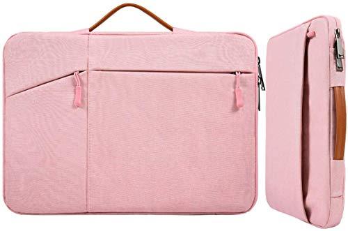 17,3 Zoll Laptop Aktentasche Sleeve Damen Tasche mit Handgriff für HP Envy 17/Pavilion 17/OMEN 17.3, Dell G3 G7 17.3/Dell Inspiron 17, Acer Aspire 17, Lenovo ASUS ROG MSI GS75 GF75 17.3 Hülle, Pink