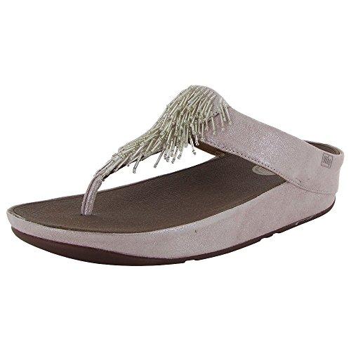 Fitflop Women Cha Cha Silver Flip Flop Size 4 B(M) US