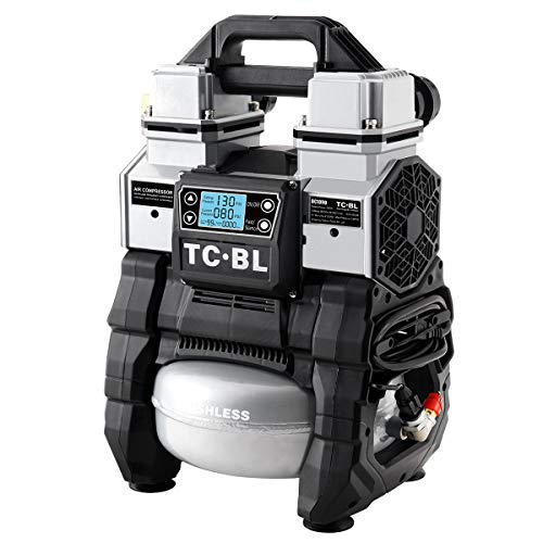 TC·BL Portable Air Compressor AC&DC Dual-purpose,Quiet Cordless Air Compressor Compatible with Makita/Milwaukee/Dewalt Battery,Heavy-duty Tire Inflator Air Pump with 5L Aluminum Tank