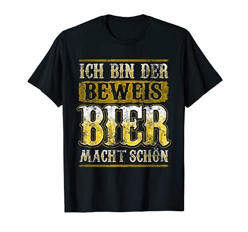Ich bin der Beweis Bier macht schön T-Shirt | Alkohol Durst T-Shirt