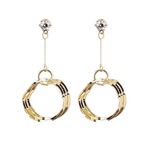 UBL Pendientes de plata PULABOSilver, borlas, orejas, uñas, temperamento femenino, pendientes simples.