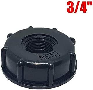 barriles IBC negro conector IBC de 60 mm de rosca gruesa para 1000 litros de barriles BE-TOOL IBC adaptador para tanque de agua etc