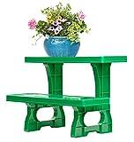UPP Dekorative Pflanztreppe für Balkon Terasse oder Garten | Blumenbank als Platzsparer für Blumen...