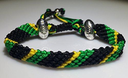 Mary's Terrace bracelet of cordes in RUGBY Couleurs. Faite à la Main sur Commande. Toutes les equipes de rugby disponibles NORTHAMPTON SAINTS