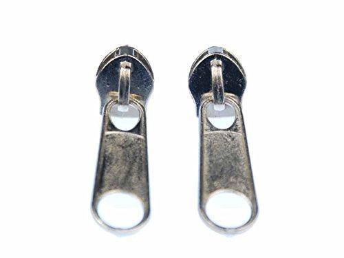 ReißReißverschluss Ohrstecker Miniblings Zipper Stecker Ohrringe Upcycling silber rund