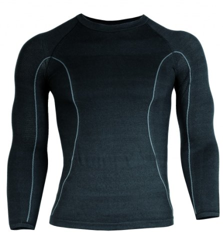BRUBECK Dirt Herren Biker-Shirt (Trikot Langarm Rundkragen Funktionswäsche), Dirt Größen:LS00030 / M