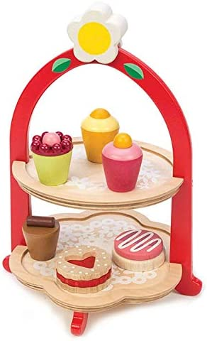 Tender Leaf Toys Popular overseas Popularity Afternoon Tea Stand and – Realistic Cake P