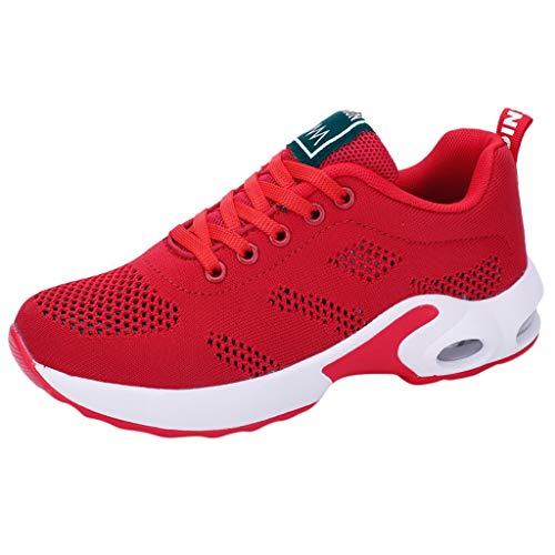 Chaussures de Course Bluestercool Femme Mode Fitness Sport Shoes Sneakers Casual Chaussures étudiant Baskets Chaussures de Sport, Noir, Blanc, Rouge, Violet