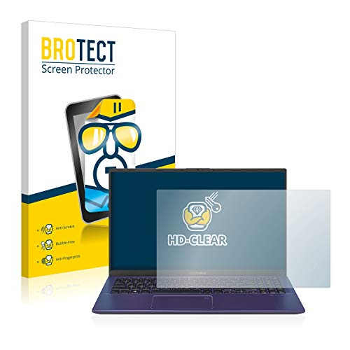 BROTECT Schutzfolie kompatibel mit Asus VivoBook 15 X512FA klare Bildschirmschutz-Folie