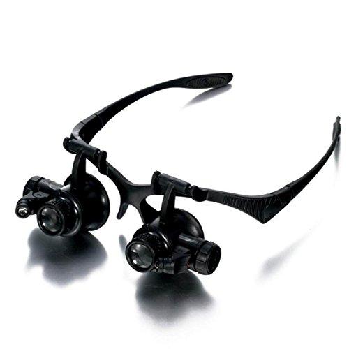 Con Luces LED Gafas Relojes Y Relojes Reparación Lupa Minera Cirugía Magnificación Lente Lupa