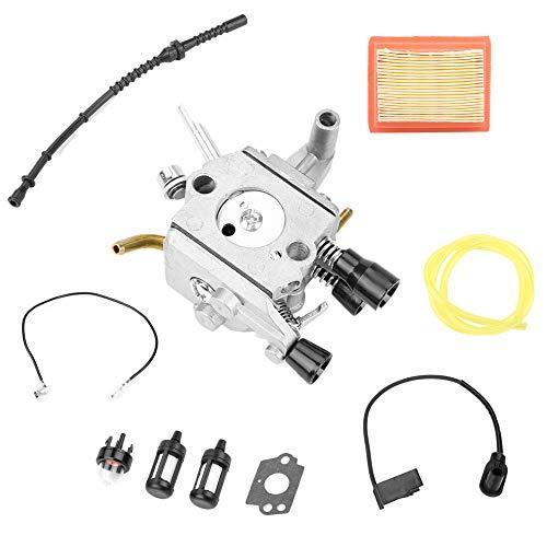 Filtro del carburador Bobina de encendido Bombilla del cebador Filtro de aire Kit de manguera de combustible para STIHL FS 120 120r FS200 FS250 FS300 FS350 Desbrozadora