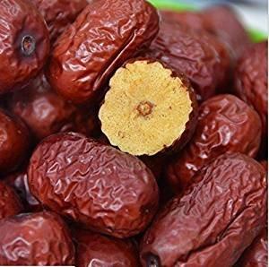 Frutos secos jujube de alto grado chino fechas rojas Hong Zao 1 libra (454 gramos) de Shanxi