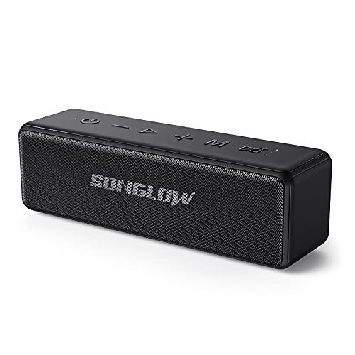 SONGLOW Cassa Bluetooth Potente 30W: Portatile Altoparlante Bluetooth 5.0 Impermeabile IPX7 con EQ Personalizzabile Stereo Hi-Fi Bassi & Doppio Accoppiamento TWS & Microfono