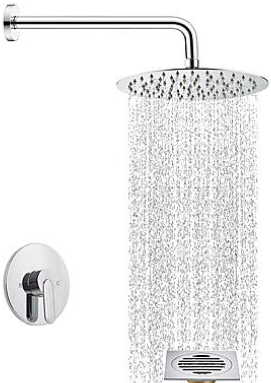 LZZNA Duscharmaturen - Moderne Chrom Duschsystem Keramisches Ventil, Chrome