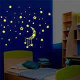A Set Kids Bedroom Fluorescent Glow In The Dark Stars Pegatinas de pared Inicio Decoración del dormitorio Drop