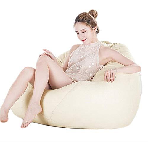 STTC Sitzsack Abdeckung, Große Sitzsack Sitzkissen Riesen-Sitzsack-Hülle Outdoor Indoor Sitzsack Bezug ohne Füllung,Beige,L