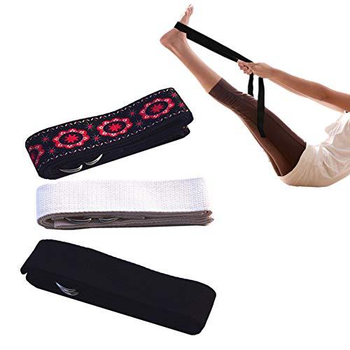 Yoga remmar och bälten Sträckningar Yoga remmar för sträckning Cotton Justerbar yogabält Yoga...