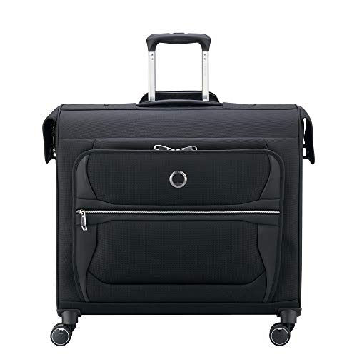 DELSEY Paris Executive Collection Softside Garment Travel Bag with Spinner Wheels, Black