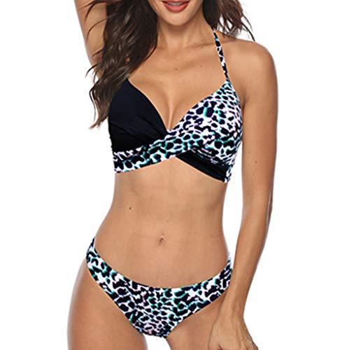 YaoDgFa Bikini sexy da donna, set push up, costume da bagno, bikini, bikini da donna, a fascia # 03 XXL