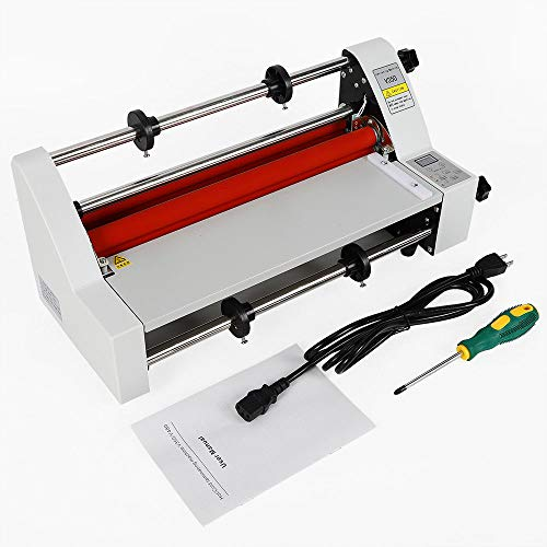 V350 350mm Hot Cold Roll Laminator, Digital Display Single and Dual Sided Thermal Laminating Machine for Home Office School (Laminator Machine)