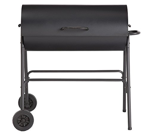 Charcoal Oil Drum BBQ - Cover, Utensils & Adjustable Grill