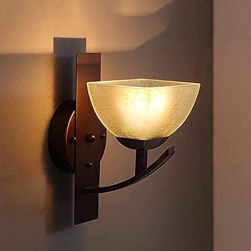 Mode Wandlampe American Loft Wandleuchte Vintage Up Beleuchtung Riss Glas Schatten Laterne Wand Leinwand E27 Indoor Wandmontierte Licht Industrial Hartverdrahtet Für...