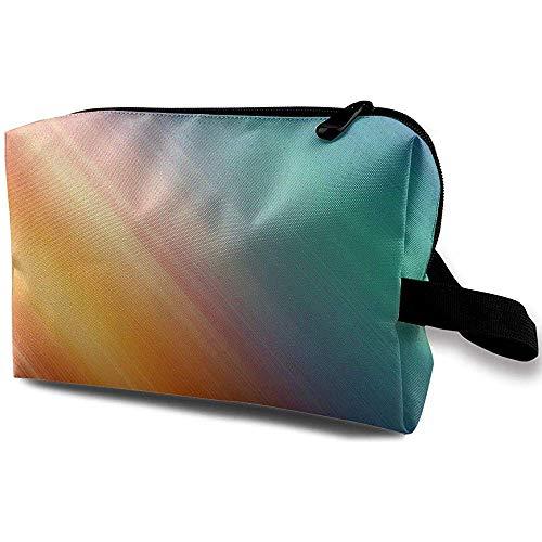 Voyage Cosmetic Bag Portable Sac À Main Rainbow Couleur Trousse De Toilette Petit Maquillage Sacs Cas Organisateur