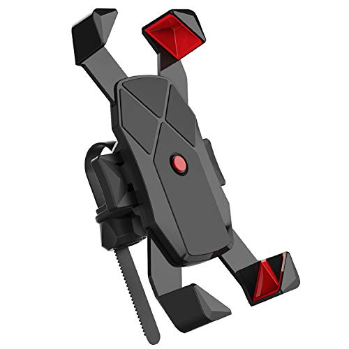 Bike Phone Mount,360°Rotation Bicycle & Motorcycle Handlebar Phone Holder for iPhone Android GPS Other Devices Between 4 to 7 inches
