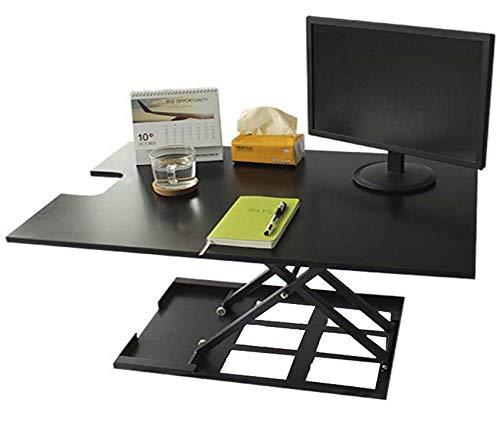 Standing Desk Converter-INNOVADESK 36-24 inches- Adjustable Standing desk – Sit Stand Desk Converter - Laptop Desk Riser- The Best Adjustable Standing Desk- Preassembled desk (Black)