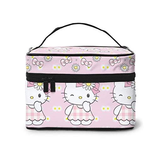 Bolsa de maquillaje, Daisy Hello Kitty Viaje Bolsa de Cosméticos Portátil Bolsa Grande de Malla B Organizador Neceser para Mujeres Niñas