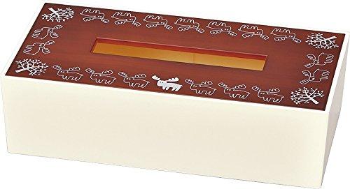 woody 北欧ティッシュBOX ダークブラウン 84340-3
