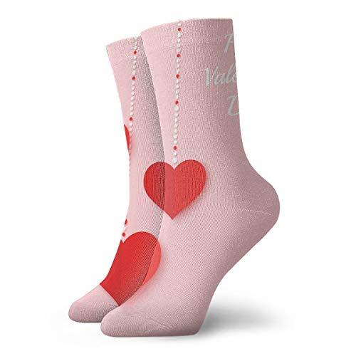 xinfub Rote Papierherzen und Farbpunkte auf rosa Hintergrund Spaß und interessante Socken cm /.Zoll