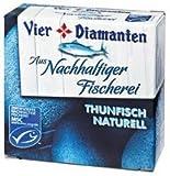 8x Vier Diamanten - MSC Thunfisch Naturell - 160g