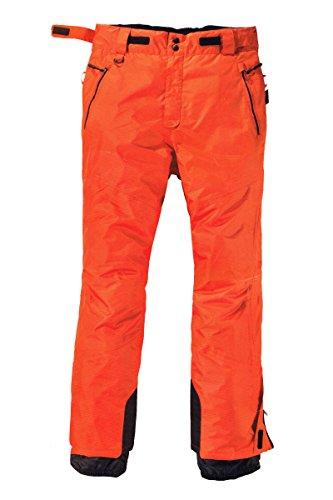Crivit Sports® Herren Skihose Winterhose Schneehose Winddicht Wasserdicht NEU (48, Orange)