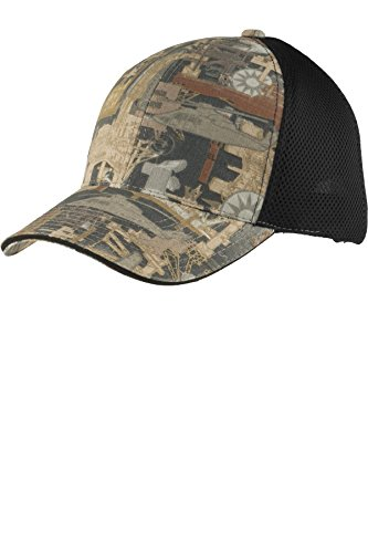 Port Authority® Camouflage Cap with Air Mesh Back. C912 Oilfield Camo/ Black