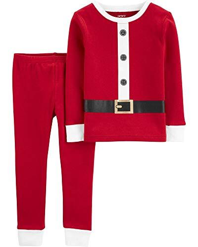 Carter's Boys' 2 Piece Christmas Snug Fit Cotton Pajamas (24 Months, Red/White Santa Suit)